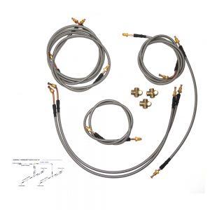 Tandem Axle Stainless Steel Braided Line Kit-0