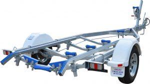Single Axle Braked Skid Boat Trailer-0