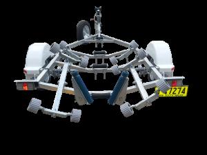 Single Axle Multi Roller Boat Trailer (Non braked)-259