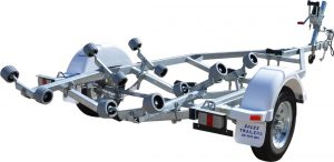Single Axle Multi Roller Boat Trailer (Non braked)-0