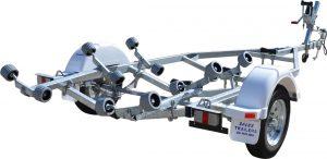 Single Axle Multi Roller Boat Trailer (Non braked)-0