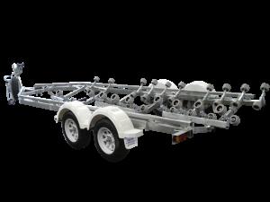 23 - 26ft Breakaway Multi Roller Boat Trailer-393