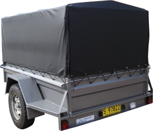 Tarp Covered Box Trailer-321