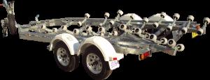 23 - 26ft Breakaway Multi Roller Boat Trailer-341