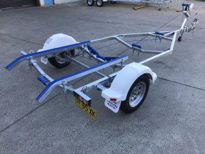 Single Axle Braked Skid Boat Trailer - Medium